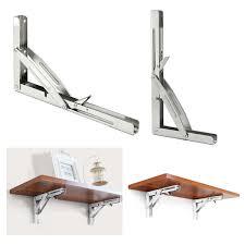 <b>DIY</b> 250kg Load 305 x 165mm 316 <b>Stainless Steel Folding</b> Shelf ...