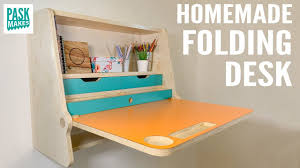 Homemade <b>Folding Desk</b> - YouTube