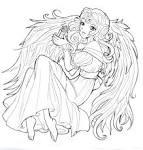 Раскраска аниме ангелы
