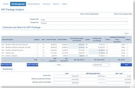 web based construction software corecon technologies cloud construction bid management software screenshot