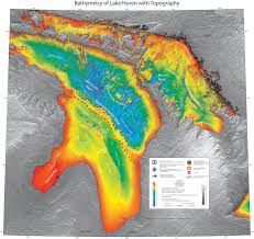 ancient hunting camp found beneath lake huron nat geo education blog this gorgeous bathymetric map of lake huron clearly shows the alpena amberley ridge which
