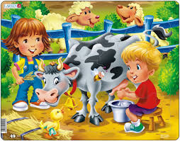 Larsen <b>Пазл</b> Дети на <b>ферме Корова</b> — купить в интернет ...