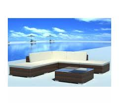 FAMIROSA <b>6</b>-<b>piece</b> set <b>Garden Lounge</b> Set with Cushions Poly ...