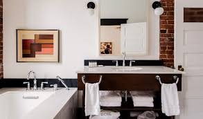 dwell bathroom cabinet: chattanoogas first boutique hotel takes the charm of a historical building and outfits it in delicious luxury meets retro midcentury allure