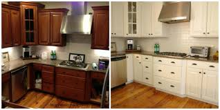 kitchen cabinet refinishing ideas refacing oak cabinets easy painting kitchen cabinets white before and after e   kitchens dec