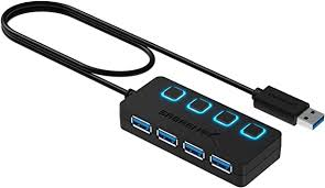 Sabrent <b>4</b>-<b>Port USB 3.0</b> Hub with Individual LED Power Switches ...