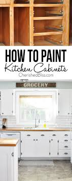 Kitchen Cabinet Painting Tips On How To Paint Kitchen Cabinets Cherished Bliss