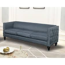 Blue <b>Nail Head</b> Sofa | Wayfair