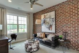 view in gallery contemporary home office with brick wall and striking wall art design john wieland homes art for home office