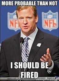 more probable than not I should be fired - Roger Goodell | Meme ... via Relatably.com