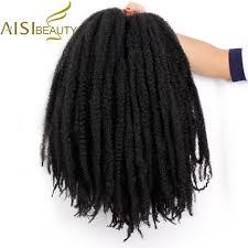 18 inch <b>Ombre</b> Marley Braids Hair Crochet Afro Kinky <b>Synthetic</b> ...