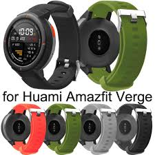 Huami Amazfit Verge Soft <b>Silicone Replacement Bracelet Strap</b> ...