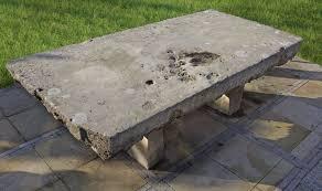 A <b>massive</b> continental limestone garden <b>dining table</b> - Piet Jonker
