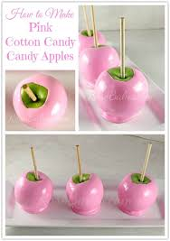 How to Make Soft <b>Pink</b> Cotton <b>Candy Candy</b> Apples | Rose Bakes