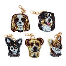 <b>New Arrival</b> Diamond Keychain Cute Dogs Pattern <b>DIY 5D</b> Diamond ...