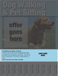 dog walking flyers essential elements you ll need pet dog walking flyers information