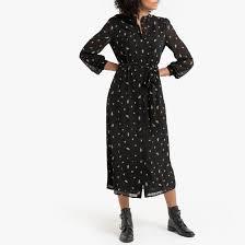 Платье-<b>рубашка</b> с цветочным принтом цветочный узор/черный ...