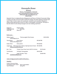 the best and impressive dance resume examples collections how to dance resume and headshot