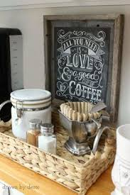 dimples and tangles coffee station in the kitchen built coffee bar makeover