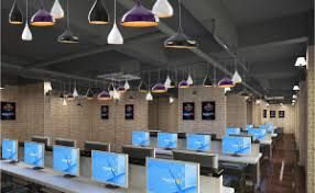 interior lighting design ideas for internet cafe cafe lighting design