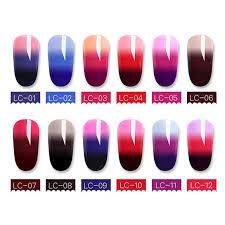 <b>LILYCUTE 5ml</b> 3 layers <b>Color</b> Changing Nail Polish <b>Thermal</b> Nail ...