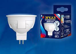 <b>Лампа</b> светодиодная <b>Uniel LED</b>-<b>JCDR</b> 6W/NW/GU5.3/FR/DIM