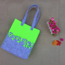 FELT <b>contrast color</b> shopping <b>bag</b> for women fashion style designed ...