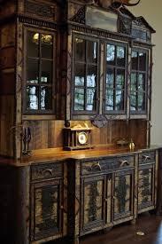 rustic hutch dining room: adirondack rustic hutch rustic dining room