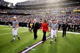 u s department of defense photo essay notre dame secretary of state condoleezza rice and defense secretary robert m gates walk out onto the