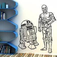 x plush wall: star wars rd and cpo droids duo movie vinyl wall art sticker decal children room door window stencils mural decor s m l