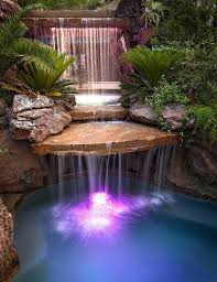 pool waterfall lighting. waterfall pool lighting