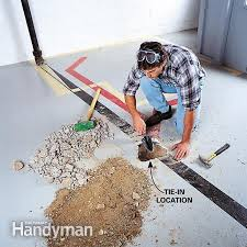 bathroom floor drainage