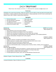 esthetician resume cover letter sample resumecareer esthetician resume cover letter sample resumecareer info