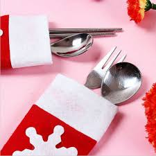 household dining table set christmas snowman knife: pcs set christmas decoration santa tableware bags dining table knife forkschina mainland
