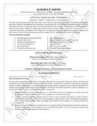 special education teacher resume sample special education teacher sample resume