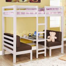 Loft Bed With Sofa Bedroom Fancy Twin Over Futon Bunk Bed For Kids And Teens Bedroom