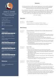personal banker resume samples visualcv resume samples database personal banker customer service s representative resume samples