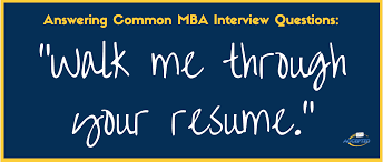 walk me through your resume mba interview questions series the your copy of perfect answers to mba interview questions