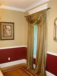 room paint red: two colored wall for dining room
