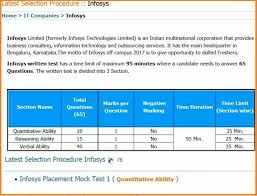 Infosys Company Placement Paper Pattern   Interview Questions