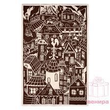 Плед «Город», бежево-коричневый с логотипом — купить оптом ...