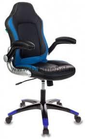 <b>Кресло</b> игровое/геймерское <b>Бюрократ VIKING</b>-1 (BL+BLUE, BL+ ...