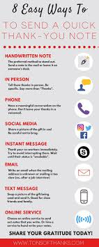 17 best images about thank you note writing tips and advice on an infographic 8 easy ways to send a thank you note a handwritten