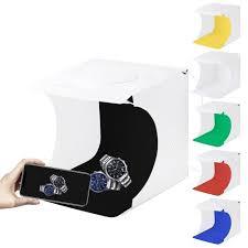 Generic <b>PULUZ 20cm</b> Include 2 LED Panels <b>Folding</b> Portable ...