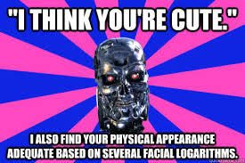 "I think you're cute."" I also find your physical appearance ... via Relatably.com"