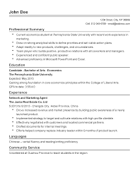 professional economics student templates to showcase your talent resume templates economics student
