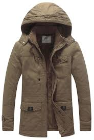 WenVen <b>Men's</b> Winter <b>Thicken Cotton</b> Parka Jacket Warm Coat with ...