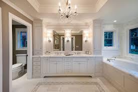 bathroom place vanity contemporary:  bathroom vanity bathroom traditional with bath chandelier crystal chandelier