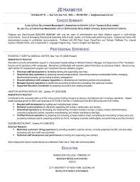 examples net sample resume of executive assistant