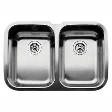 undermount kitchen sink stainless steel: supreme undermount stainless steel  in equal double bowl kitchen sink